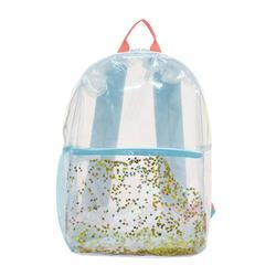 "Popular Fashion All Clear PVC Backpack 15.5"" Transparent PVC Security School Bag"