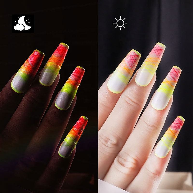 Newest luminous Wire Drawing Gel Nail Polish UV Led Painting Gel Pulling Silk 3D Nail Gel UV