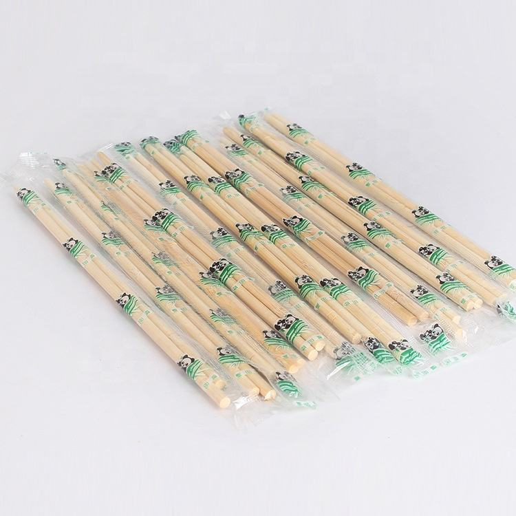 Disposable round bamboo noodle chopsticks for restaurant