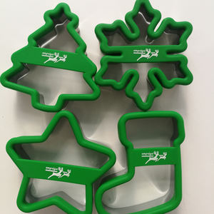 Wholesale Eco-Friendly High Quality Stainless Steel with Silicone Cookie Cutter