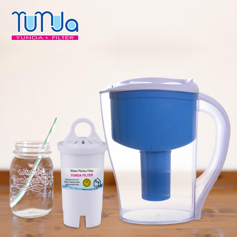 Water Pitcher Filter YUNDA FILTER Alkaline Water Pitcher Filter Replacement Water Filter For Pitcher