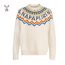 Latest Design Custom New Fashion Winter Women Sweater Jacquard Knit Jumper