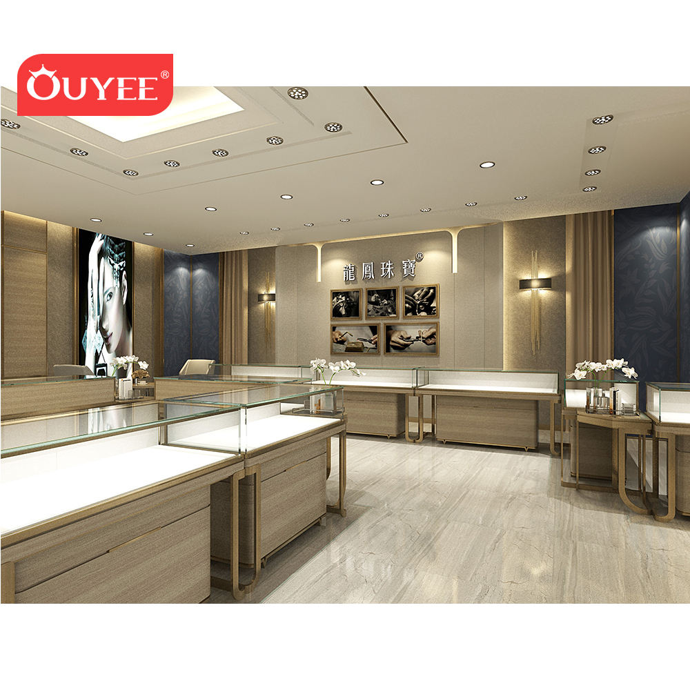 Interior Shop Counter Design Showroom Furniture Jewelry Showcase Jewellery Counter Display