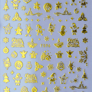 Nail Art Decals Halloween Gold Skull Sticker Christmas Snowflakes Nail Stickers for Nail Decoration
