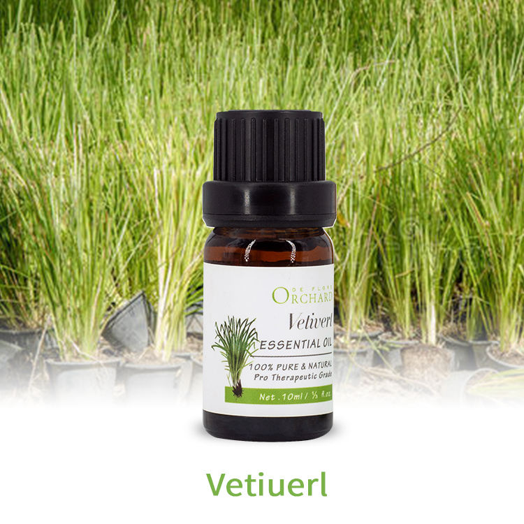 10ml High Quality OEM/ODM 100% Pure Natural Vetiver Essential Oil Price Pain Relief Oil for skin aromatherapy