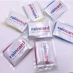 disposable raincard raincoat  put in the wallet