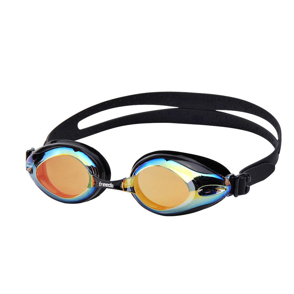 The Newest update mirrored swim goggles glasses with anti uv and anti fog systelm for adult