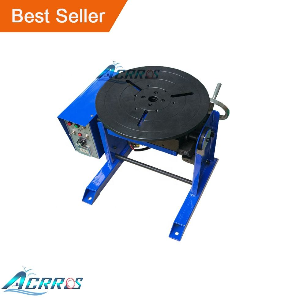 30KG Heavy Duty Welding Positioner 0-90 Turntable Time Control Positioning Machine