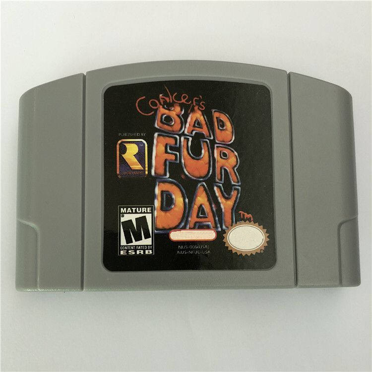 DHL free shipping NTSC version PAL version both available game cartridge n64 conker bad fur day