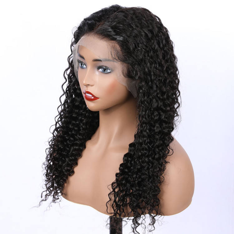 Factory Price Curly Human Hair Wigs Lace Front ,Cuticle Aligned Indian Hair LaceFront Wig ,Frontal Closure Hair Weaves and Wigs