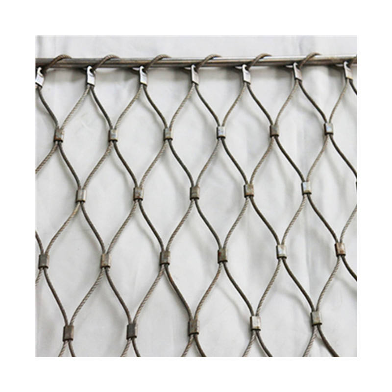 Animal and bird enclosure stainless steel netting wire rope woven mesh