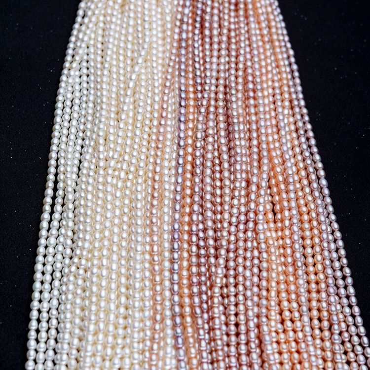 (5-6mm)white cultured natural real freshwater pearl strand string beads wholesale loose round fresh water freshwater pearl