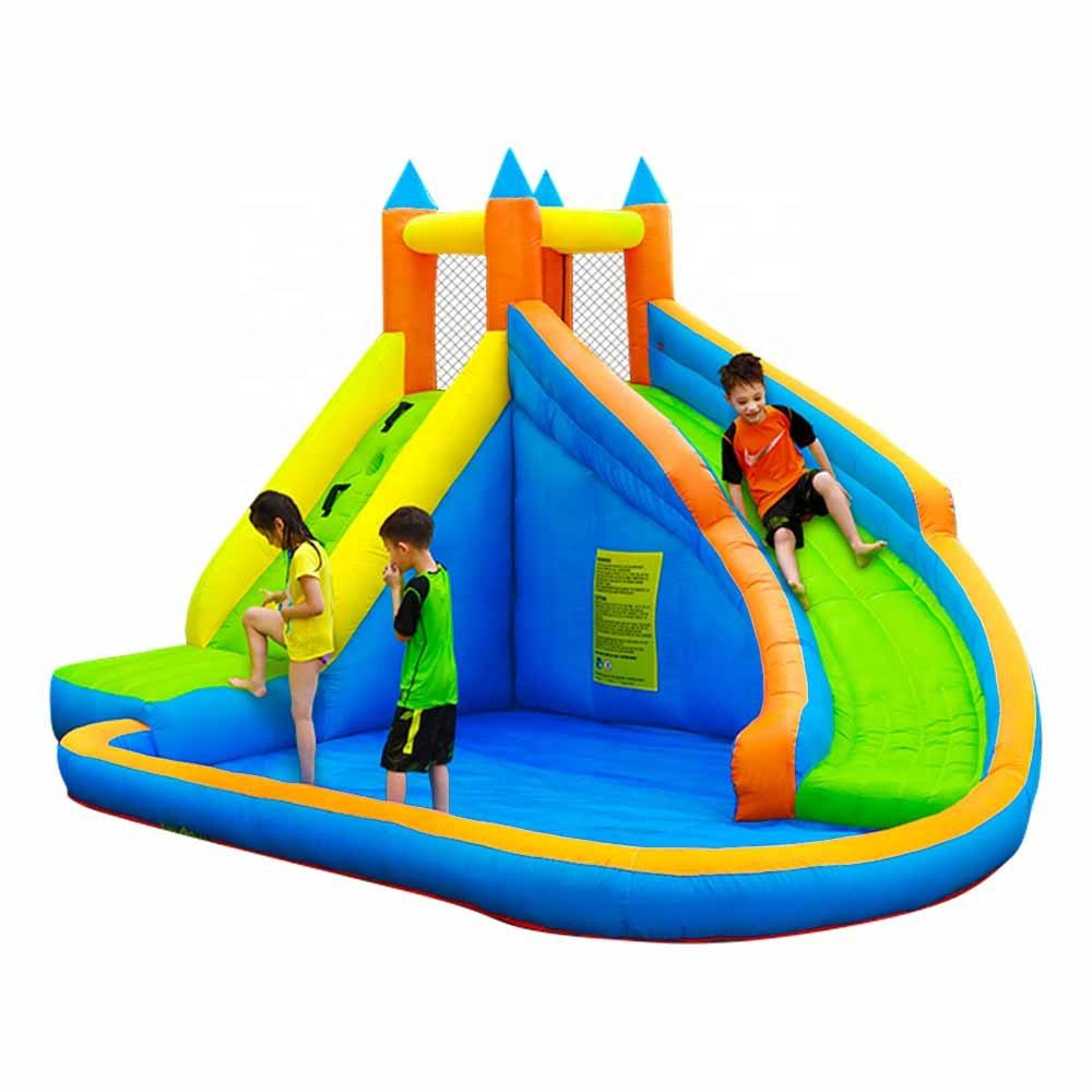 SS63009 Cheap Wholesale Price Combo pool Kids Small Inflatable Water Slide for Sale
