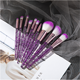 10 Pcs Set 10 18.8cm Solution 10 Pcs Free Samples Crystal Diamond Bling Glitter Colorful Makeup Brushes Set