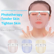 Skin Care Wrinkle Removal Face Whitening Beauty Instrument LED Phototherapy Mask
