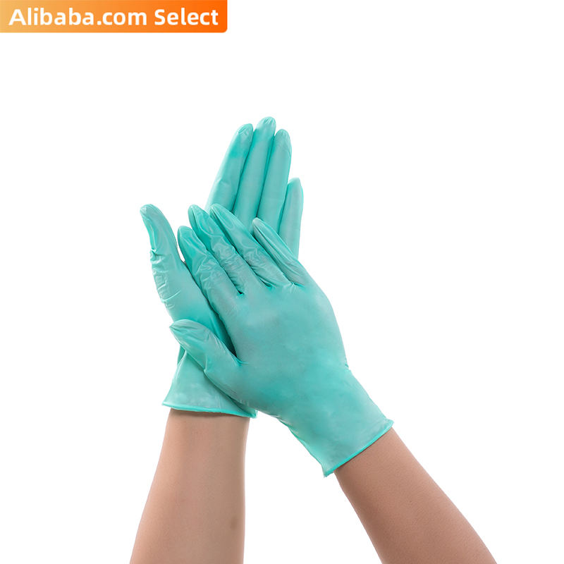 SGS-FOOD wholesale non-medical household disposable transparent black blue green pvc food touch gloves for USA