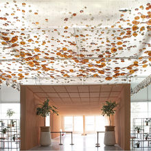 Energy Saving hotel dining room big size project luxury glass led modern chandelier