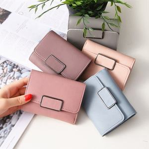 Casual Solid fashionable wholesale Female Short Mini All-match women wallet with card holder