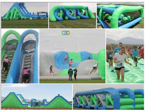 outdoor run team challenge rental giant big adult sport inflatable game