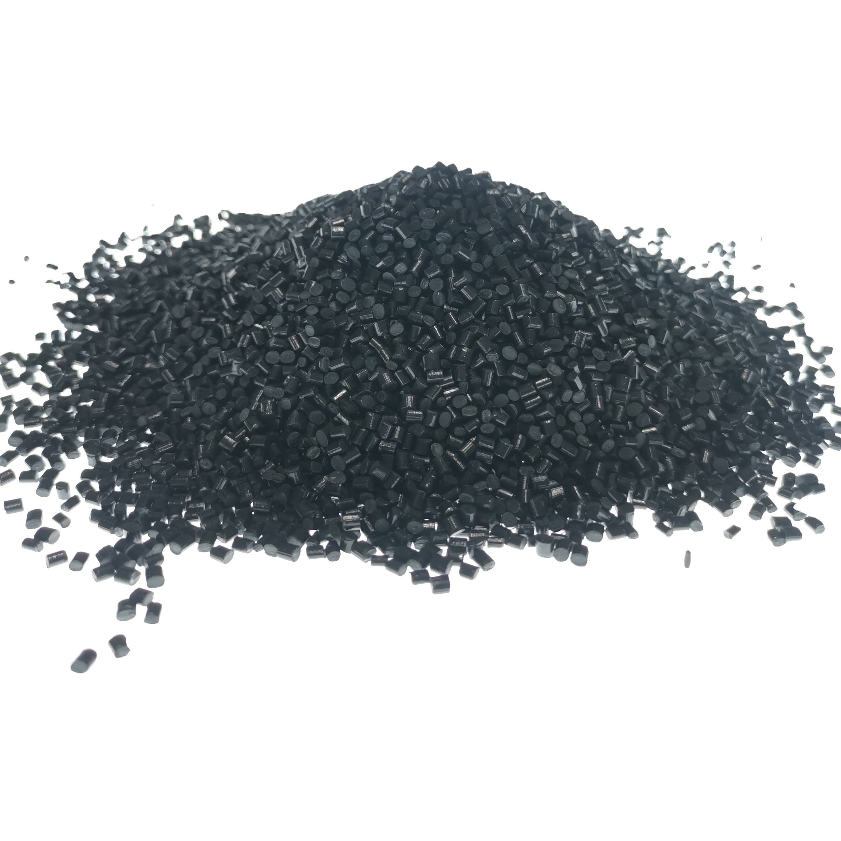 Black Recycled Plastic Material Injection grade PP polypropylene Granule For electrical plugs, toys, housings