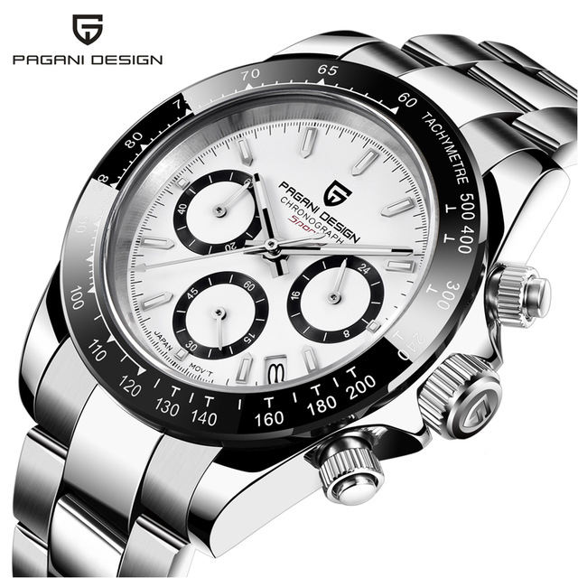 Pagani Design 1644 Men Stainless Steel Watches Calendar Chrono Relogio Masculino Relojes Hombre Automatic Watch