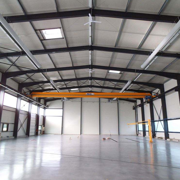 Large Span Flexible Material Hangar Building Metal Steel Structure Warehouse On Sale