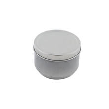 Recyclable small round tin box packaging tin box for candle