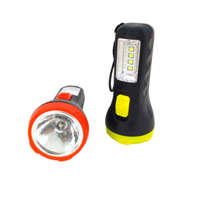 plastic AA battery LED flashlight 2 in 1 LED flashlight with side lamp AA battery hot sell for africa market