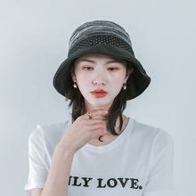 Fly knitted bucket hat fishman hat wholesale sun hat women