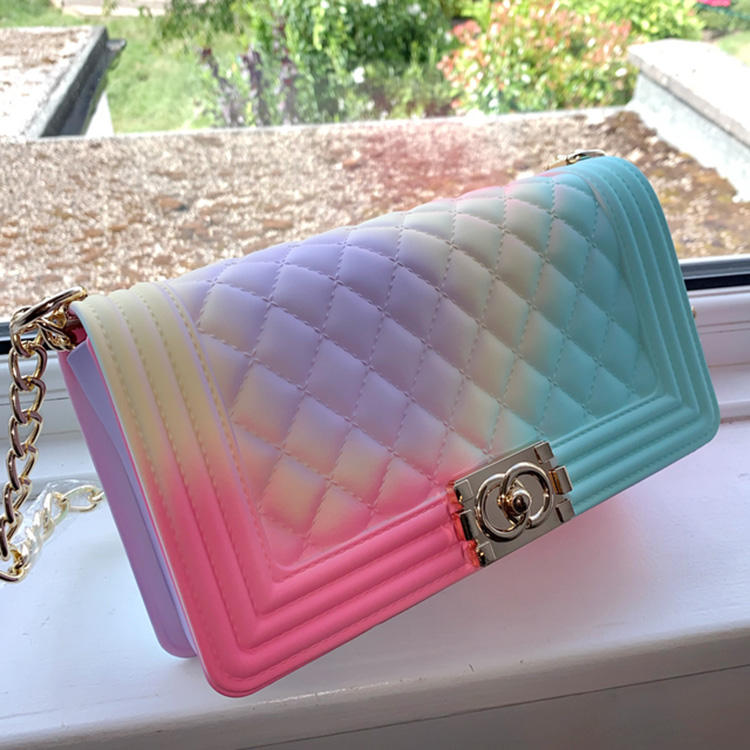 Luxury Women Chain Shoulder Ladies Small Fashion Low Price Silicone Purses Handbags Bag Women's