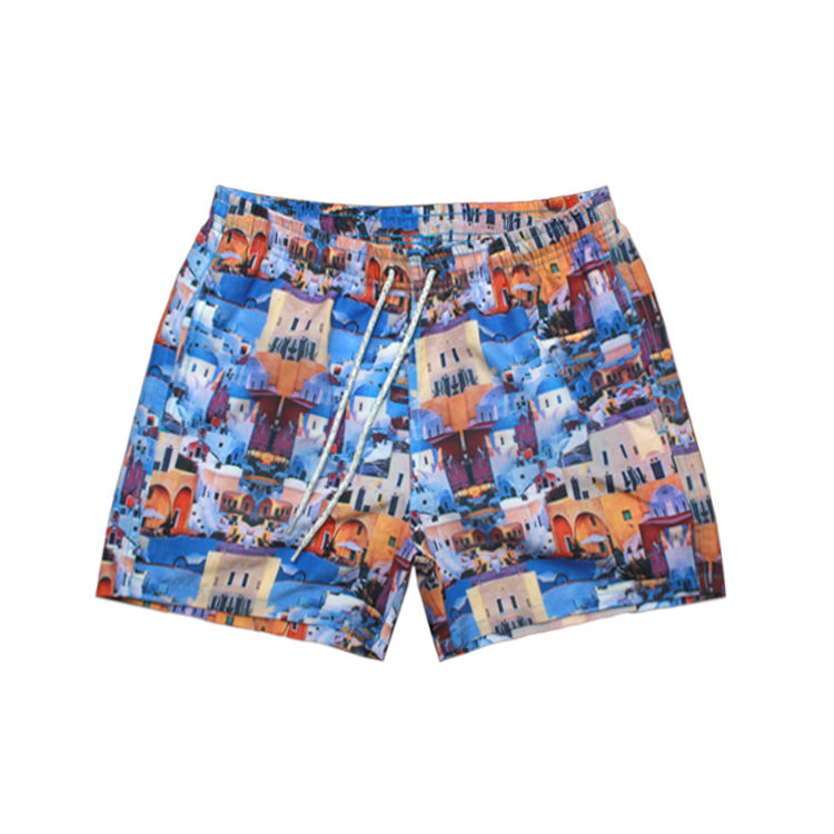 Colorful Patterns Summer Vacation Tropical Polyester Beach Shorts
