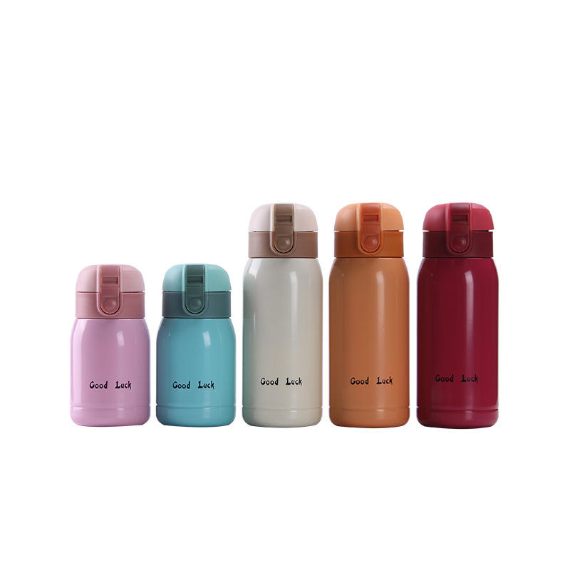 180ml 360ml Mini Vacuum Hot Mini Water Cup With luck Bounce kid children Stainless Steel bottle