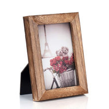 Selling price pack custom shape Solid wood rustic antique vintage photo frames