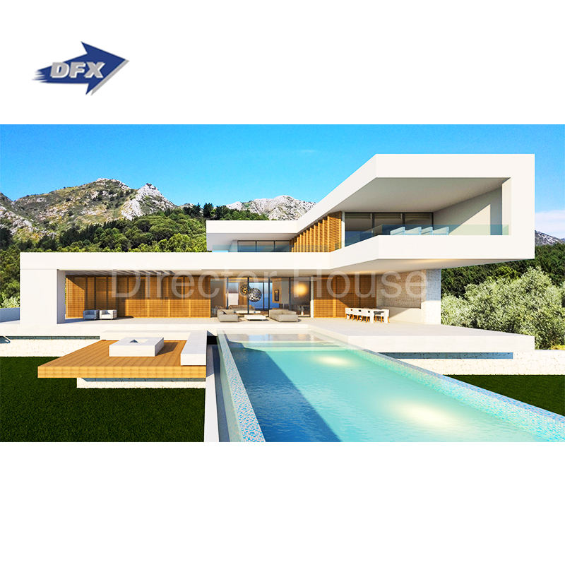 Furnished Light Steel Structure Prefabricated Luxury Villa Two Storey Prefab House