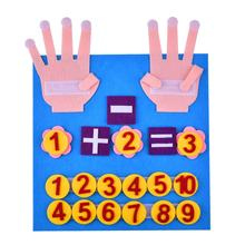 Intellectual Wool Educational Toys Fingers Numbers Counting Felt Toy Set for Children Digital Kindergarten Teaching Early Educat