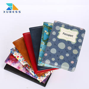 wholesale PU leather passport cover case customize printed passport holder bag fashionable personalised cover print sublimation