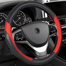 Factory Supply Directly PU Leather High Quality Universal Fashion car Steering Wheel Cover