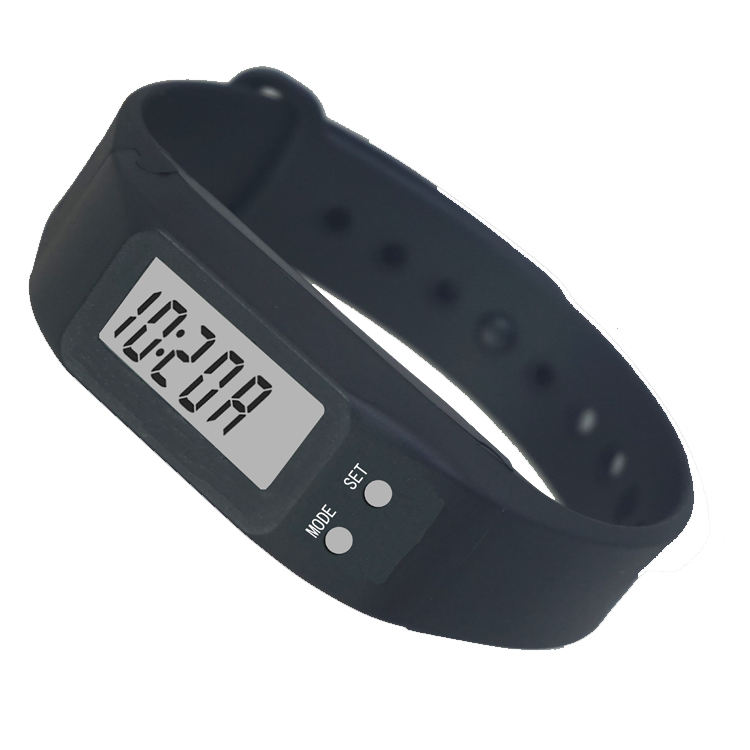 3D multifunctional cheap silicone wristband personalized electronic calorie pedometer bracelet