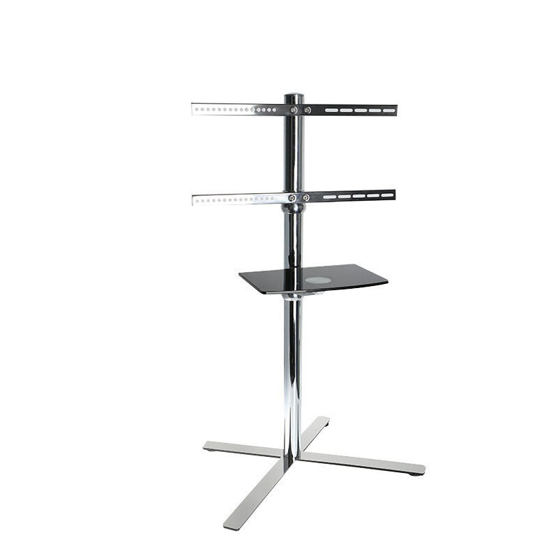 "DL-ST3M 23 ""-65"" mobiele TV Karren LCD PLASMA floor stand trolley Display Rack met wiel rvs X vorm base 35kg 400x400"