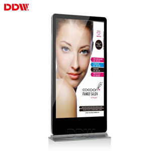 Commerciële Display 43 49 55 60 Inch Vloerstandaard Touch Screen Ad Kiosk Lcd Reclame Display Board Led Digital Signage totem