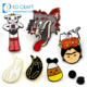 China Custom Metal Cheap Enamel Pins Manufacturers China No Minimum Bulk Cheap Custom Made 3d Logo Cute Cartoon Pin Badge Hard Soft Enamel Lapel Pin