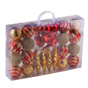 Wholesale Christmas tree ornament pack plastic Christmas ball suit party holidays Xmas tree decorations
