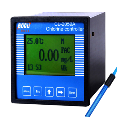 Industriale on-line 4-20mA cloro residuo meter controller