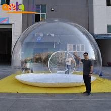 4m outdoor transparent inflatable sphere bubble lodge tent for events