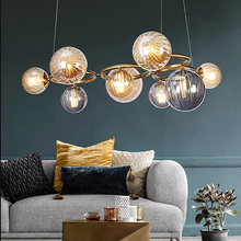 Hot selling northern europe metal glass ball antique brass led modern chandelier light