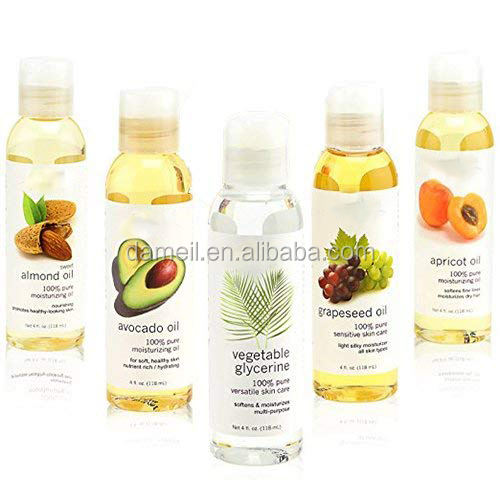 Private Label Carrier Oil 3 Gift Set Jojoba Avocado Almond 100ml Each pure carrier oil sets