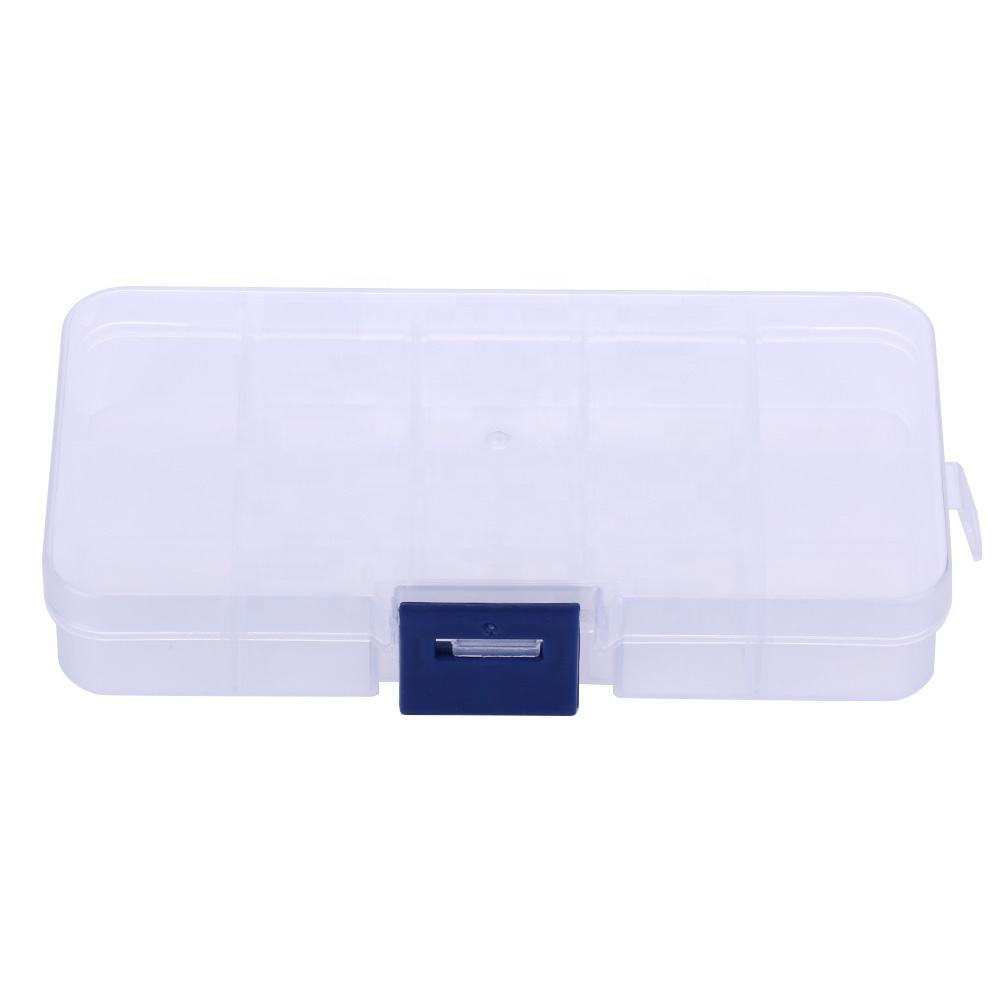30g 10 grid storage transparent fishing box