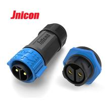 Jnicon  IP67 2 Pin Male and Female Screw Waterproof Connector