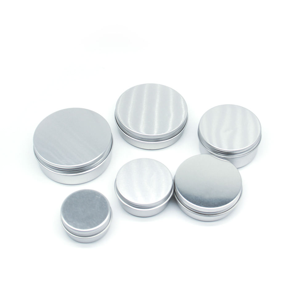 15ml Small Gift Can Lip Balm Container Round Shape Empty Aluminum Jar Tin Box Packaging In Stock
