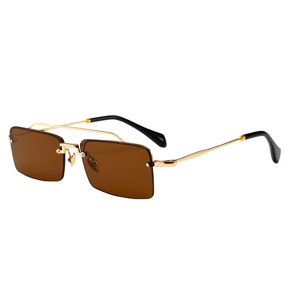 Modern Retro Style High End Model Show Small Framed Narrow Sunglasses
